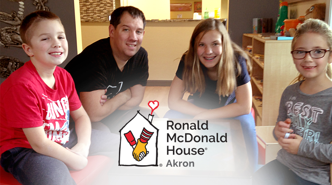 Blake at the Ronald McDonald House of Akron