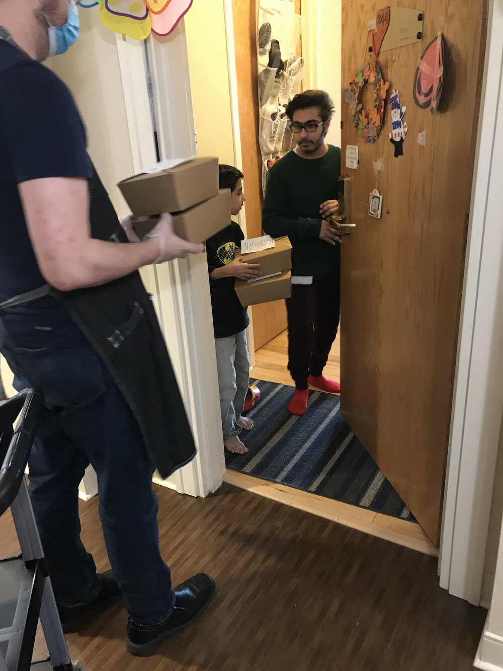 Meal delivery at the house