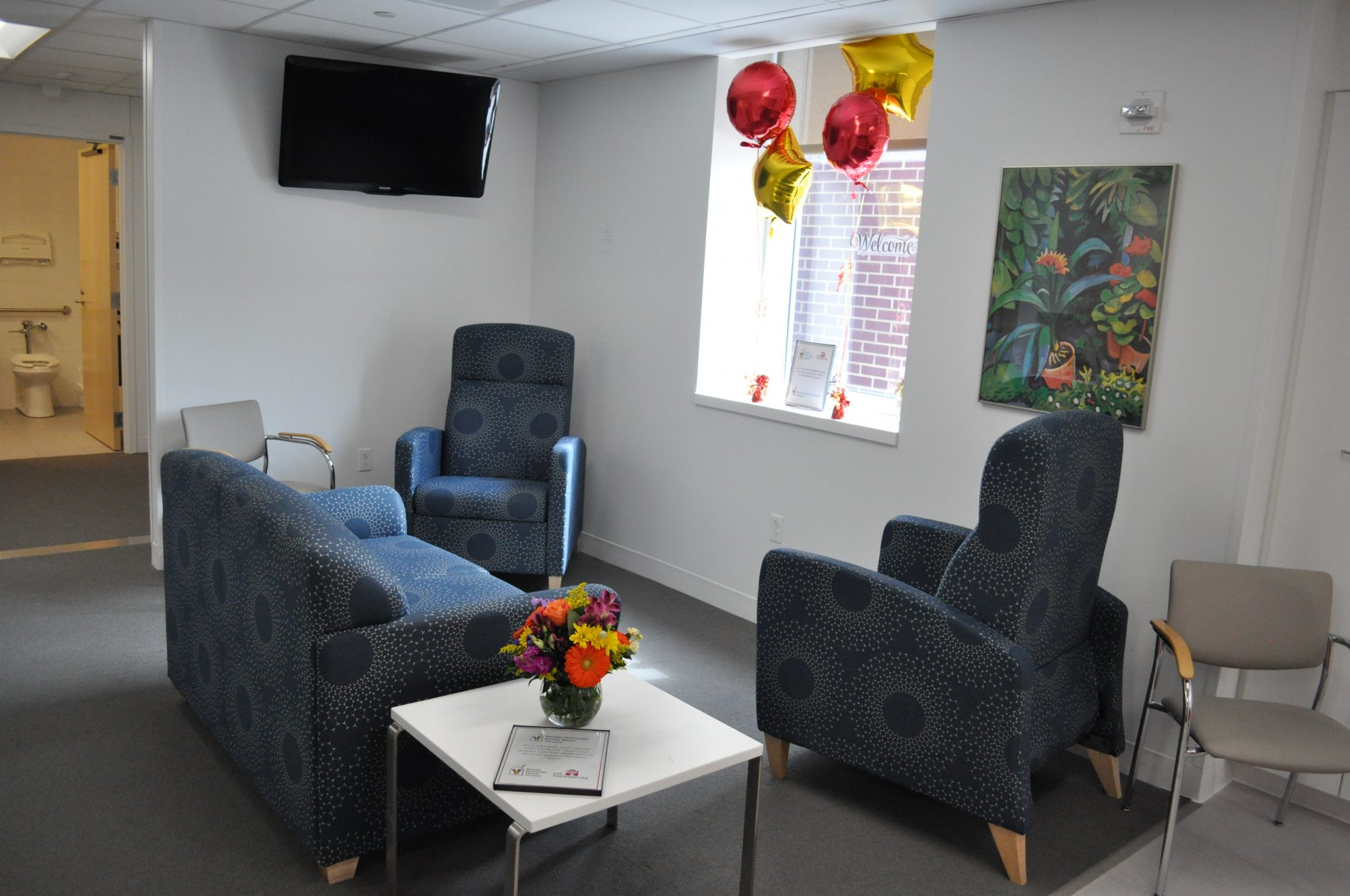 Seating area at the Fairview Family Room