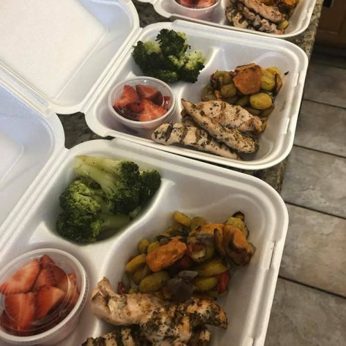 Grilled chicken and sides