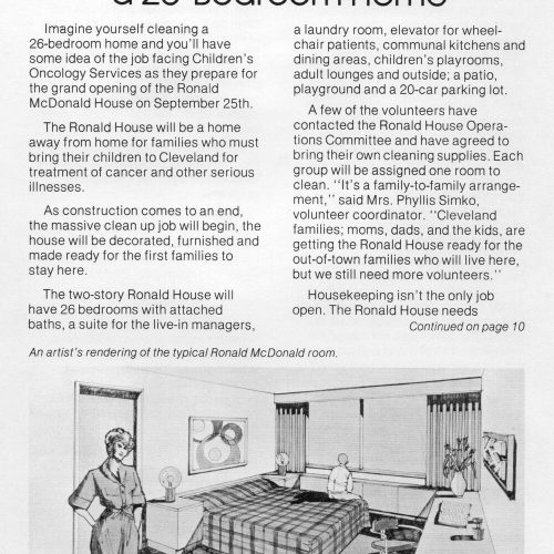 1979 advertisement for RMH volunteers, first page.